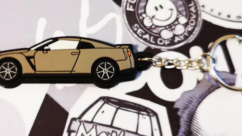 Nissan GTR R35 Gun Metal Grey Key Ring