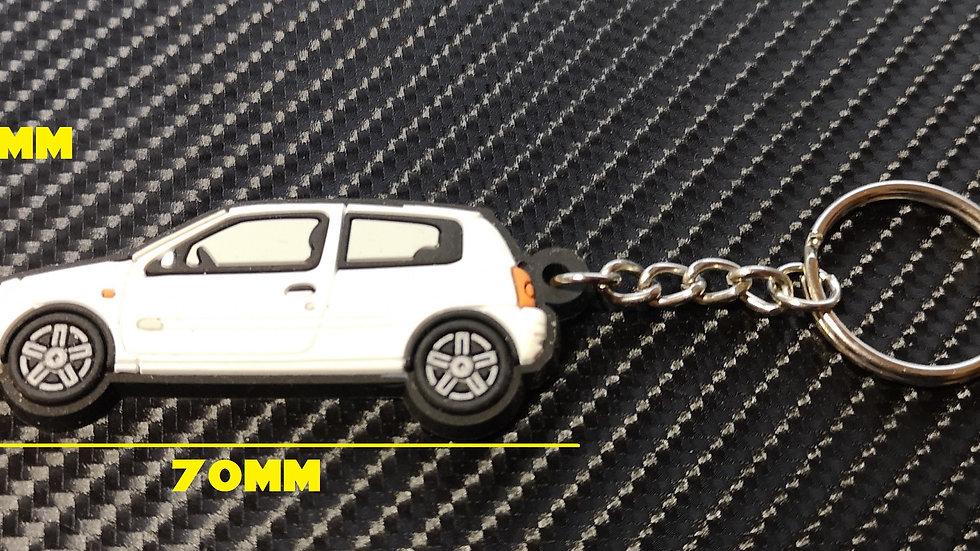 Renault Clio Key Ring White