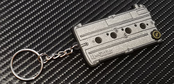 Zetec Rocker Cover Key Ring Silver