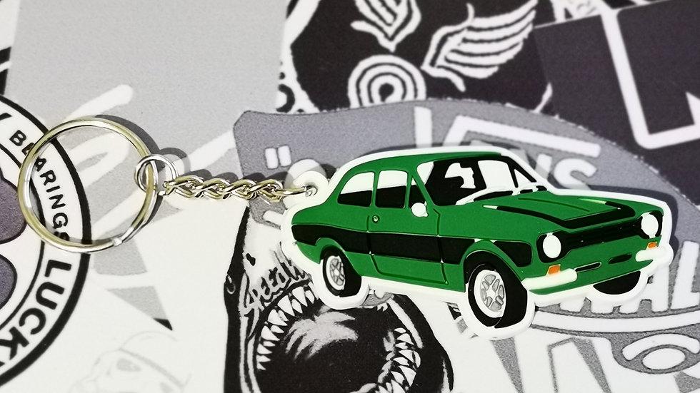 Ford Mark 1 Escort Key Ring Green