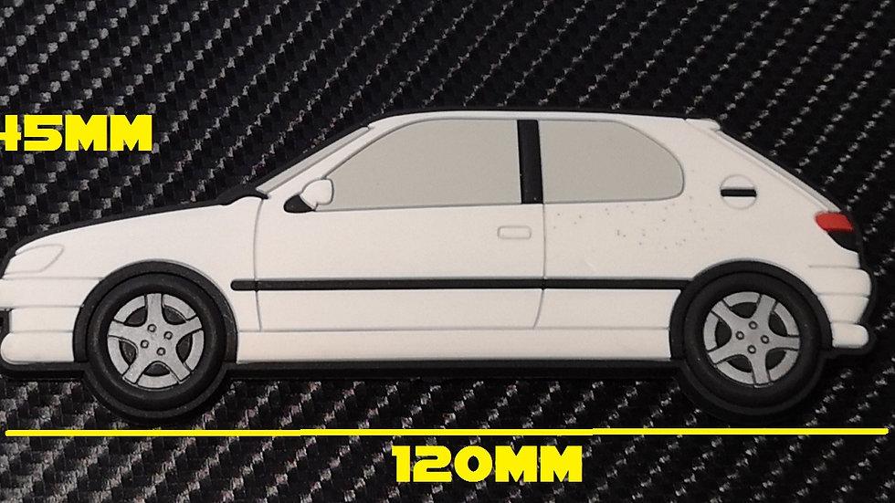 Peugeot 306 GTI-6 S16 Fridge Magnet White