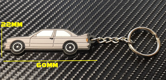 BMW E30 M3 Key Ring Silver