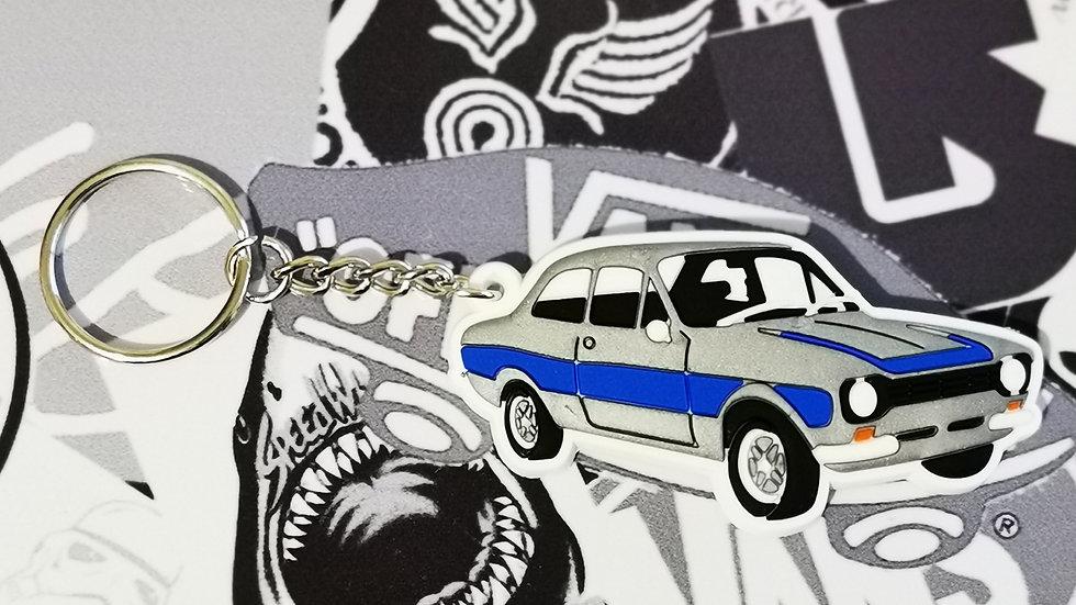 Ford Mark 1 Escort Key Ring Silver