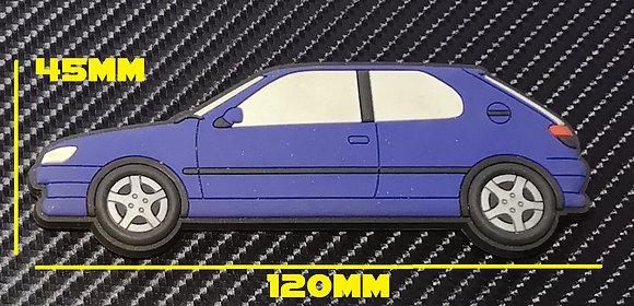 Peugeot 306 GTI-6 S16 Fridge Magnet Blue