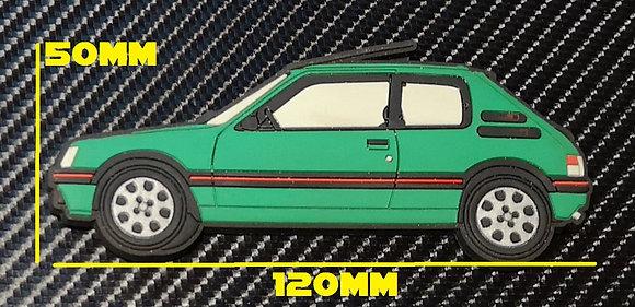 Peugeot 205 Gti Fridge Magnet Green (Laser)