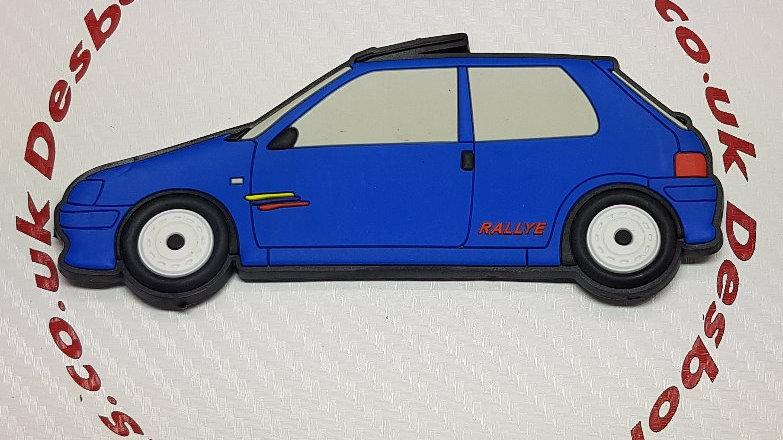 Peugeot 106 Fridge Magnet Phase 2 Rallye Blue