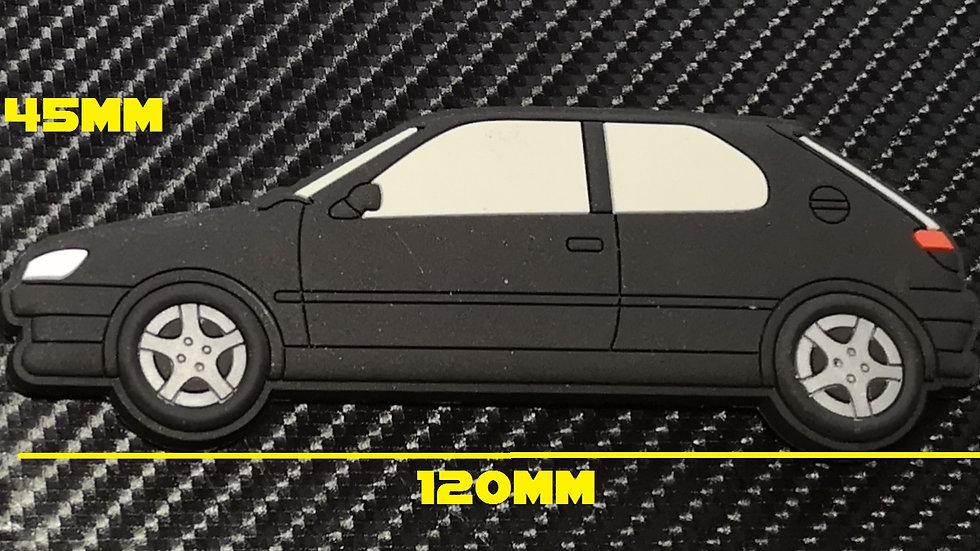Peugeot 306 GTI-6 S16 Fridge Magnet Black