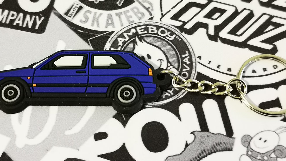 VW Golf GTI Mk2 Key Ring Dark Blue
