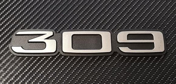 Peugeot 309 Reproduction Rear Badge