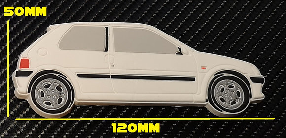 Peugeot 106 GTI Fridge Magnet White