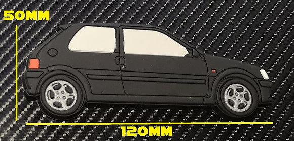 Peugeot 106 GTI Fridge Magnet Black
