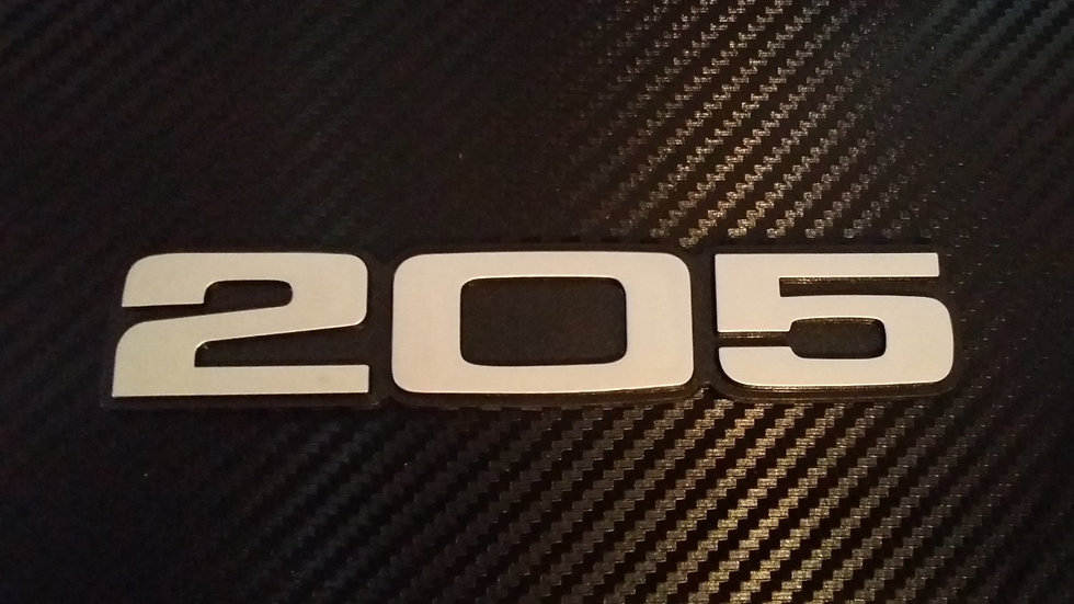 Peugeot 205 Reproduction Rear Badge 2nds