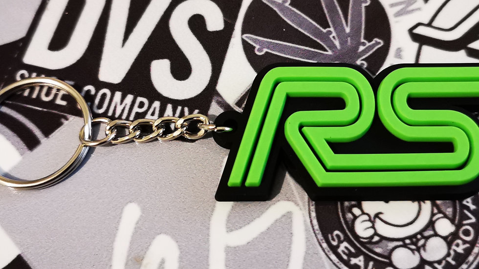 Ford RS Focus ST Key ring  Black / Green