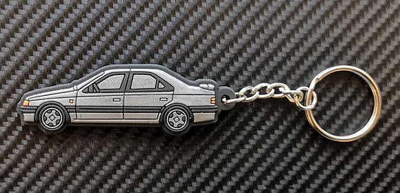 Peugeot 405 Mi16 / T16 Key Ring Silver