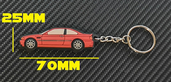 BMW E46 M3 Key Ring Red