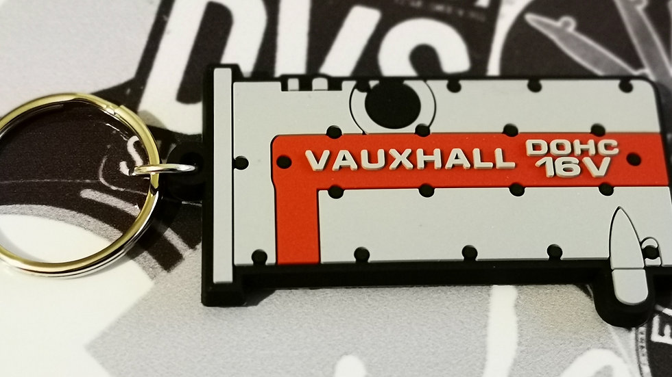 """Vauxhall Astra C20XE Redtop Rocker Key Ring """"Silver/Red"""" Old Style"""