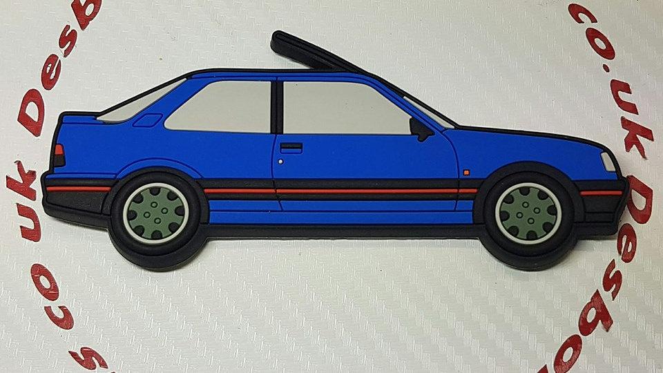 Peugeot 309 Fridge Magnet Miami Blue / Goodwood Wheels