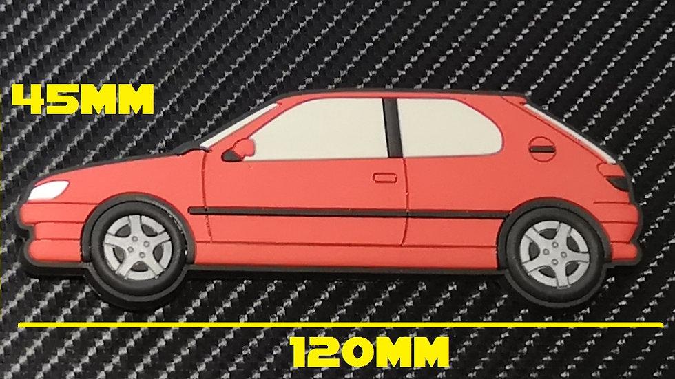 Peugeot 306 GTI-6 S16 Fridge Magnet Red