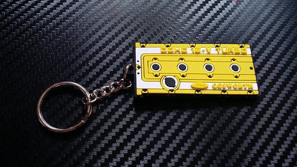 "Cosworth Rocker Cover Key Ring ""Yellow"""
