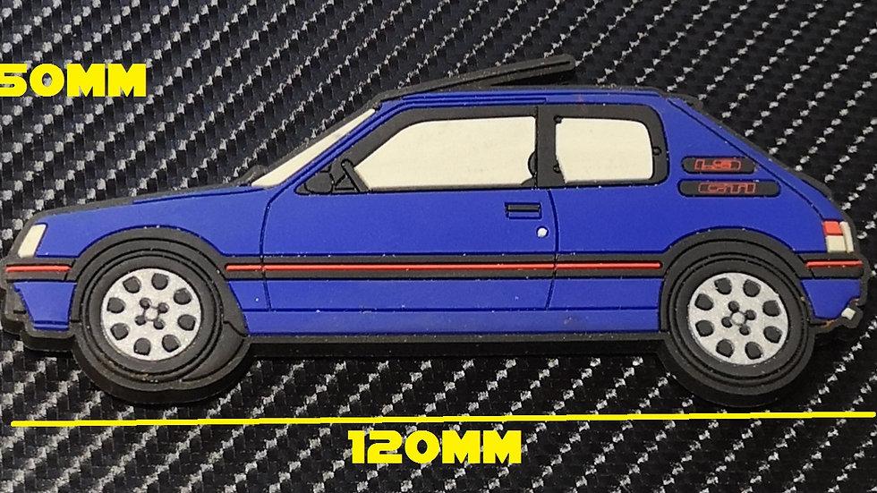 Peugeot 205 Gti Fridge Magnet Miami Blue