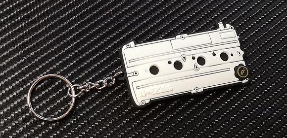 Zetec Rocker Cover Key Ring White
