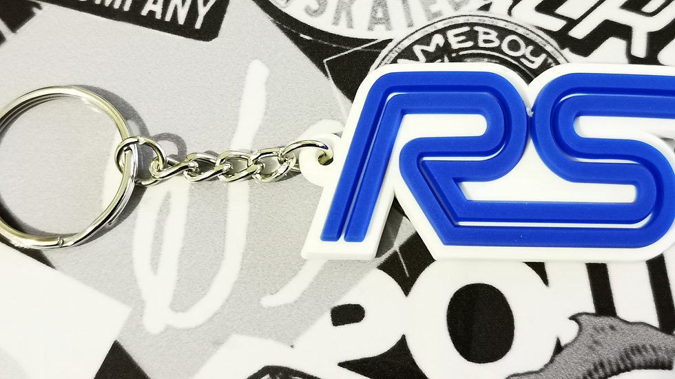 Ford RS Focus ST Key ring  White / Blue