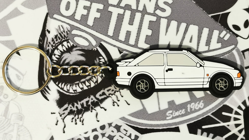 Escort RS Turbo Key Ring White