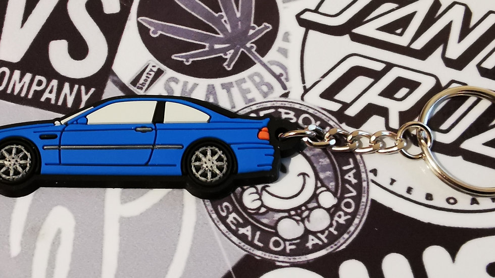 BMW E46 M3 Key Ring Blue