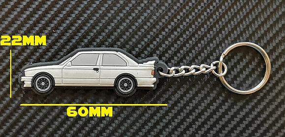 BMW E30 M3 Key Ring White