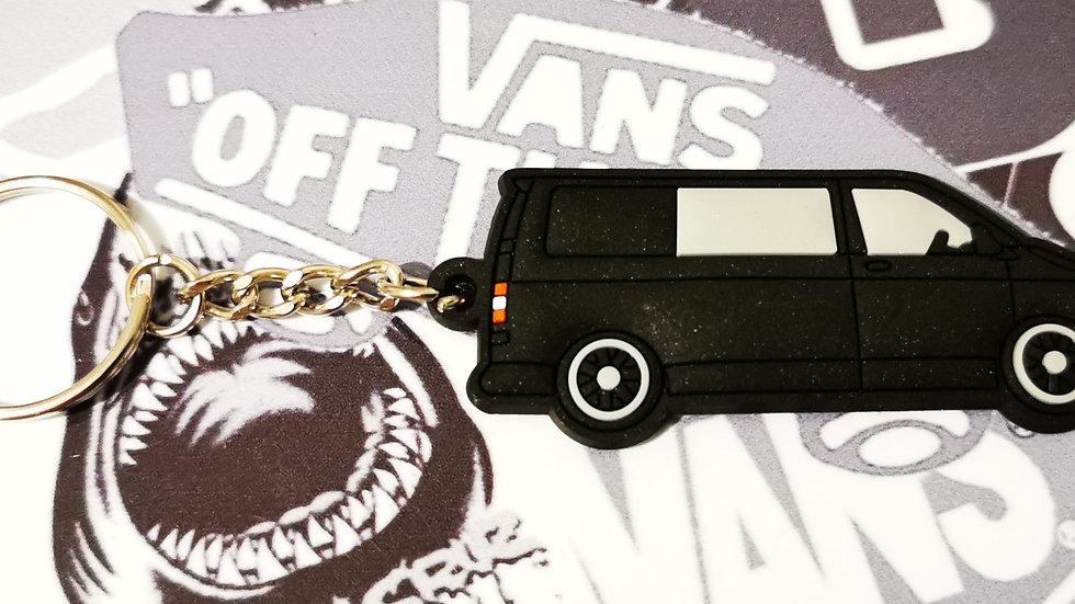 Volkswagen T5 Camper Black Van with rear Window