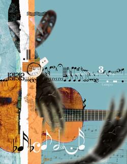 Guitar hands 16x20
