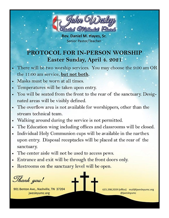 Easter Sunday Worship Protocol April 202