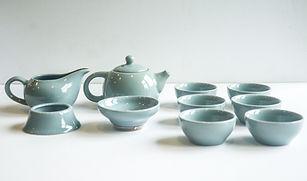 Blue Crackle Tea Set
