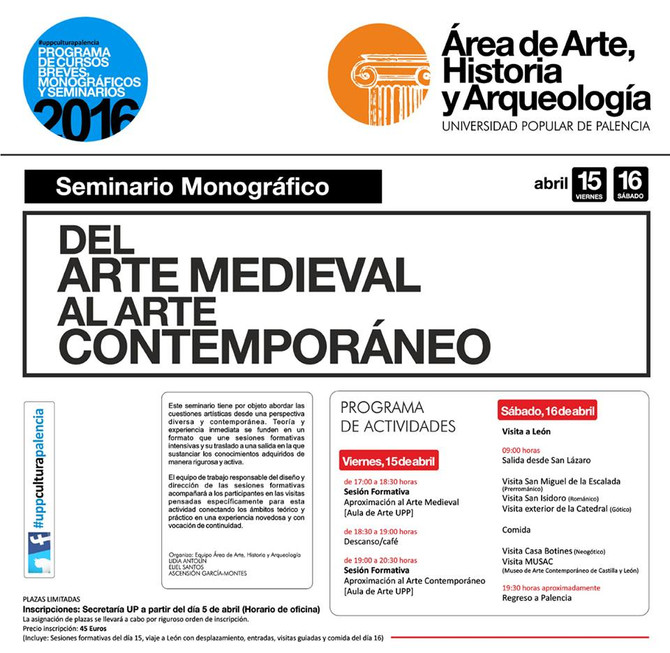 Seminario sobre Arte (abierto a todo el público)