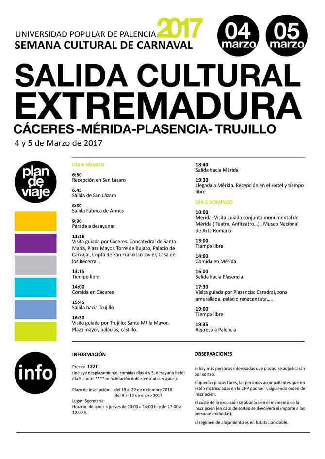 Salida Cultural a Extremadura 2017