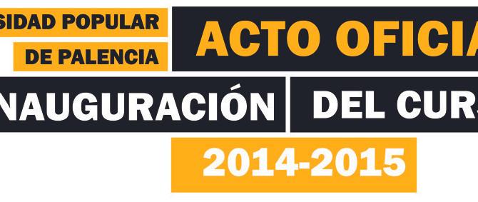Acto Oficial de Inauguración del curso 2014-2015