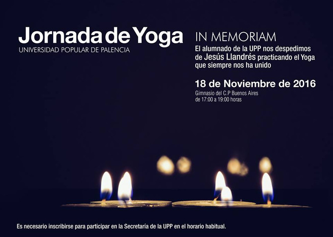 Jornada de Yoga (Memorial Jesús Llandrés)