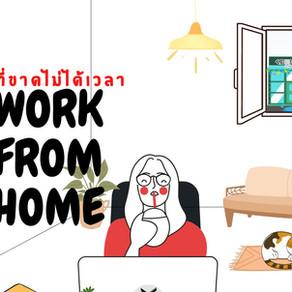 สิ่งที่ขาดไม่ได้เวลา WORK FROM HOME