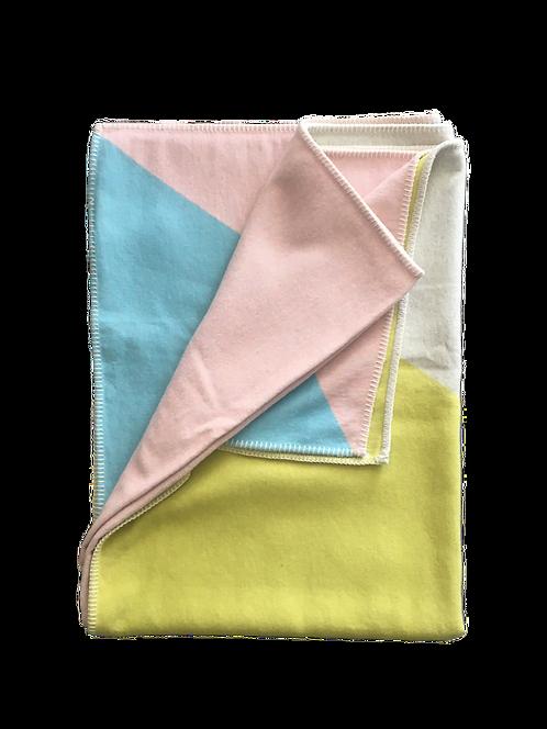 SYLT Bw-Decke 'Dreiecke', Pastell
