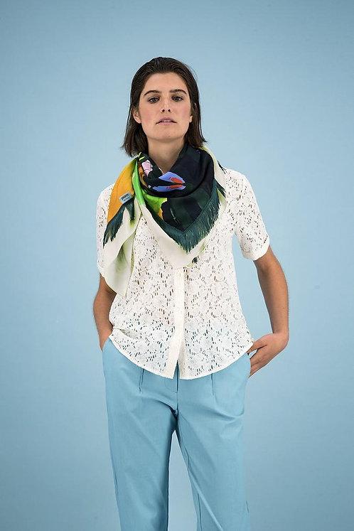 'Flower Play Green' Schal