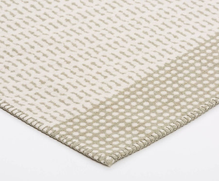 SYLT Decke mit Zierstich 'Rasterbordüre', Salbei