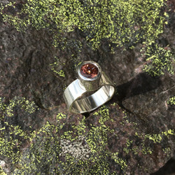 Sterling silver and brown tourmaline ring