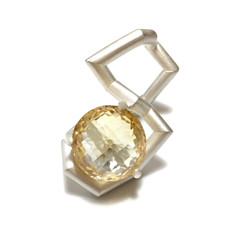 Continue Ring, Sterling Silver and Citrine
