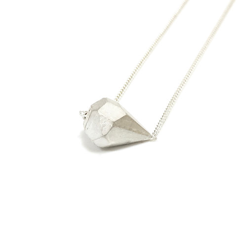 Sterling silver GEODE necklace