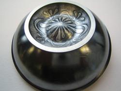 Brooch 2006, sterling silver, patina