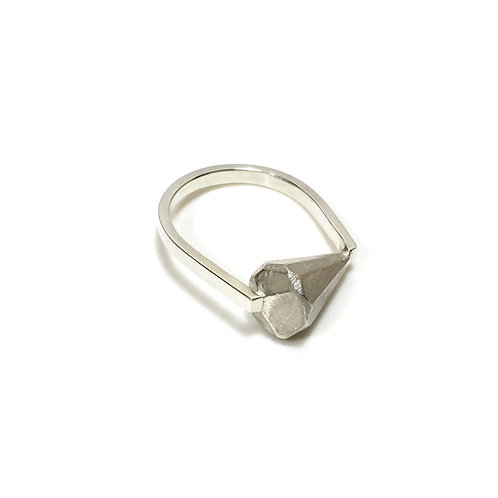 Sterling silver GEODE ring