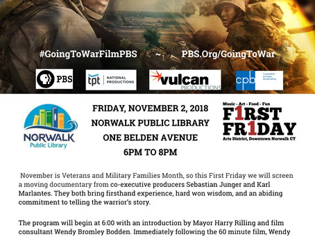 Going To War: Norwalk Public Library/First Friday Film Event Nov 2