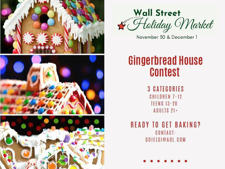 WHO IS READY FOR THE WALL STREET HOLIDAY MARKET NOV 30 AND DEC 1?