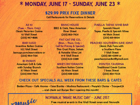 Wall Street Restaurant Week June 17 - June 23