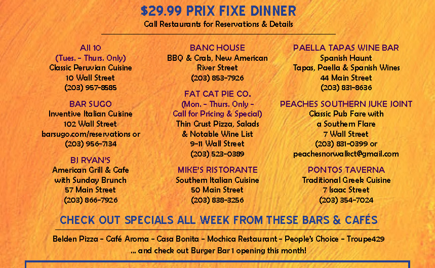 Wall Street Restaurant Week June 17 - June 23